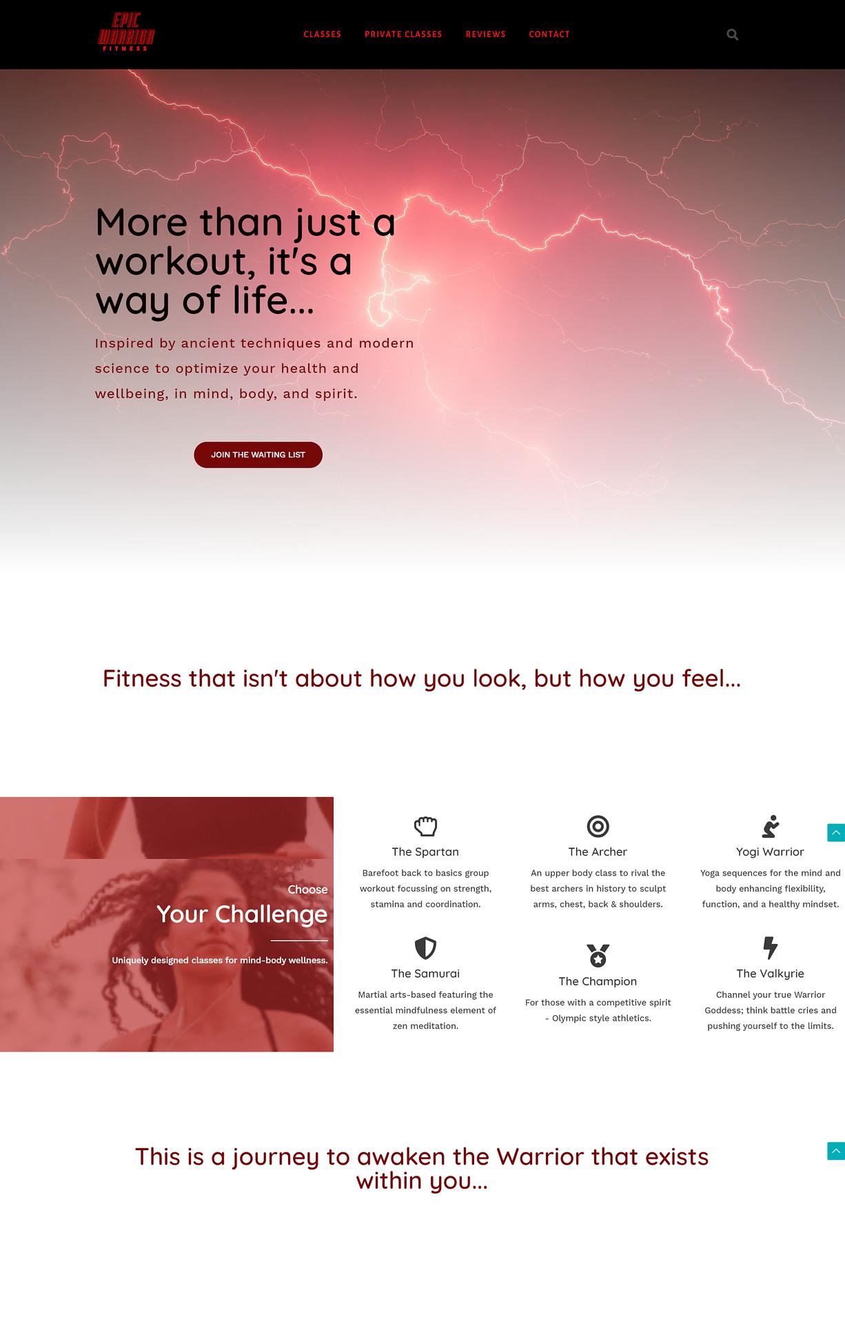 wellness website design