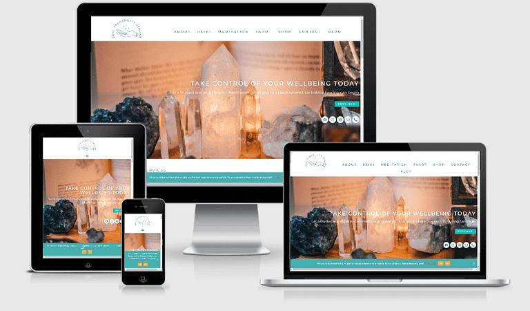 health and wellness website design